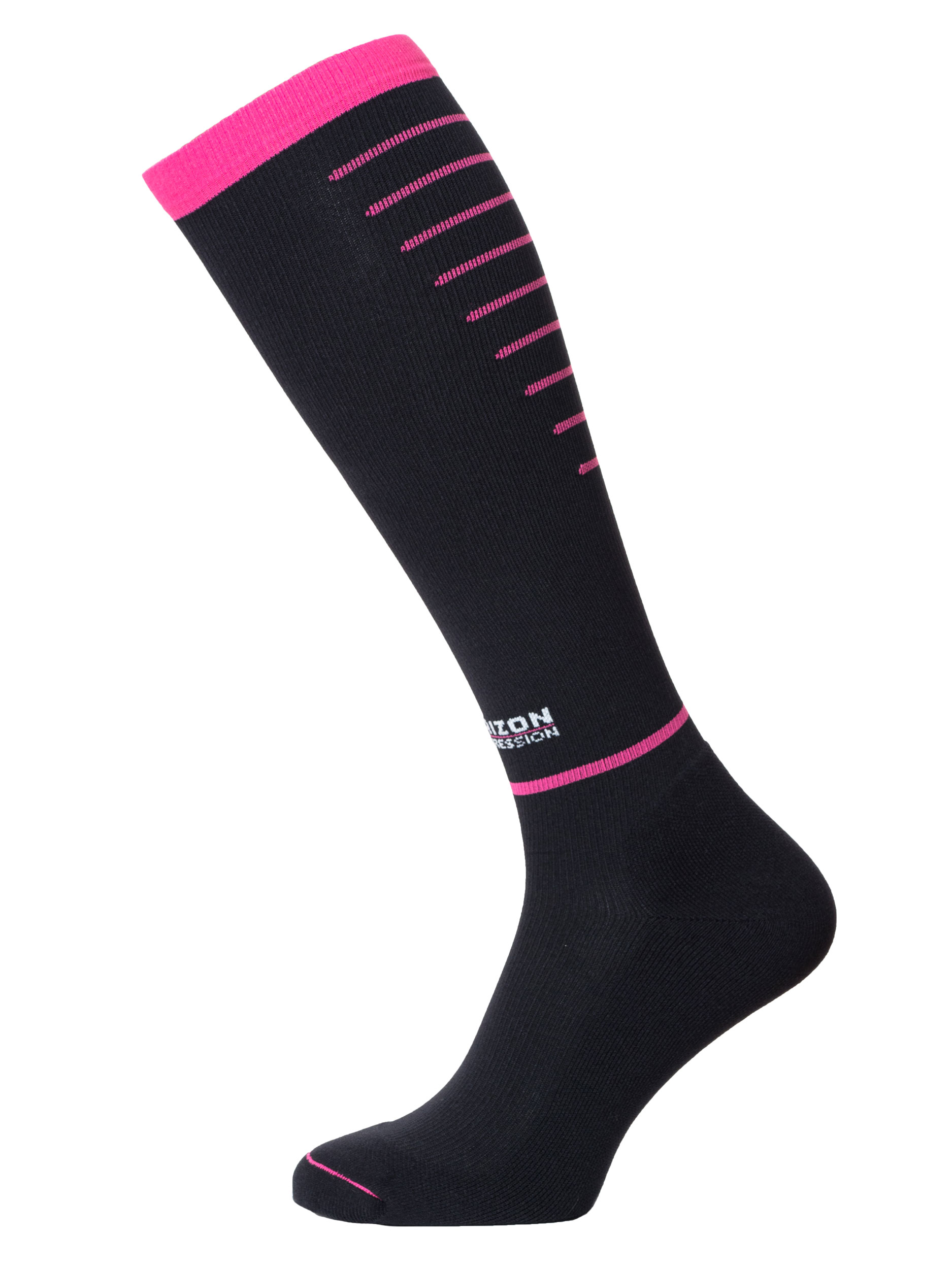 Compression Over Calf Black/Cerise