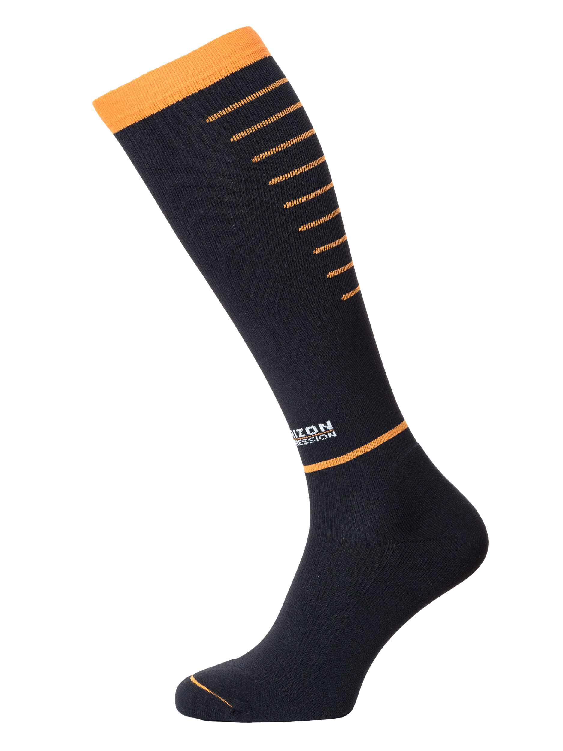 Compression Over Calf Black/Orange