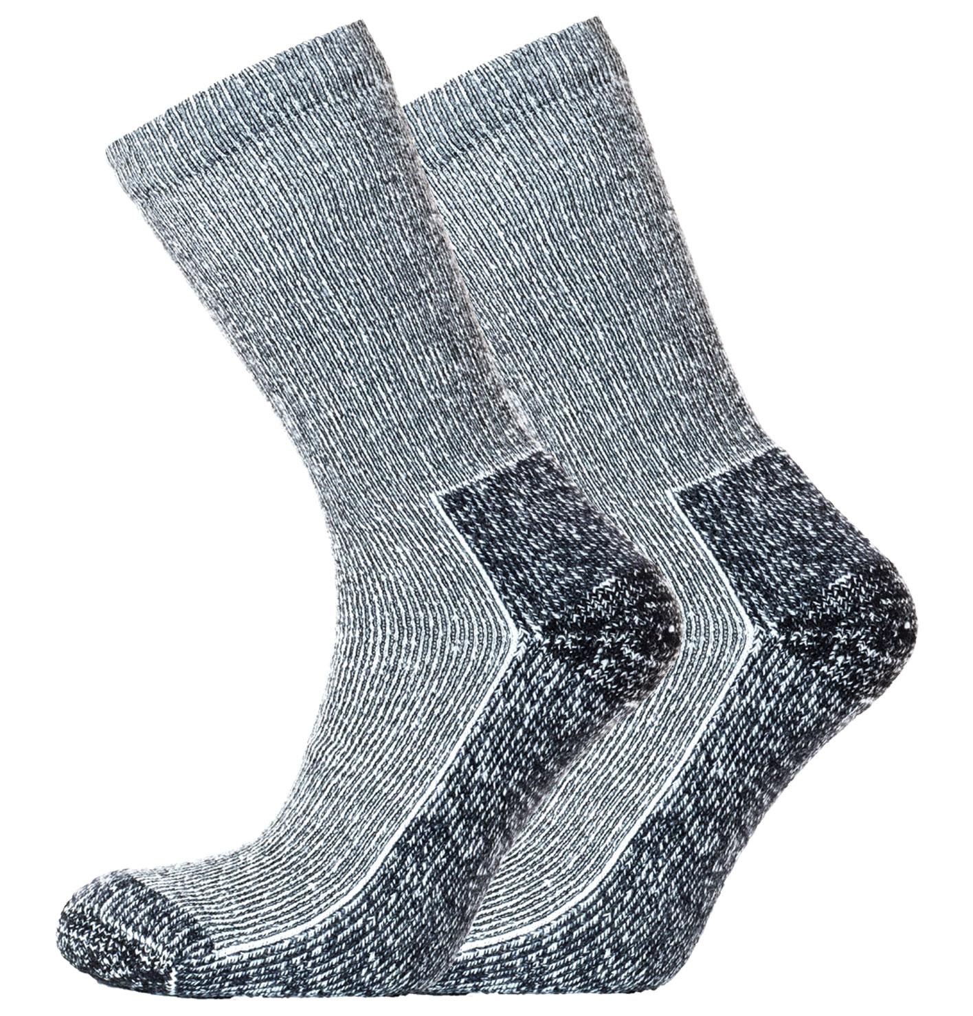 Heritage Coolmax Outdoor 2pk Socks Black Marl