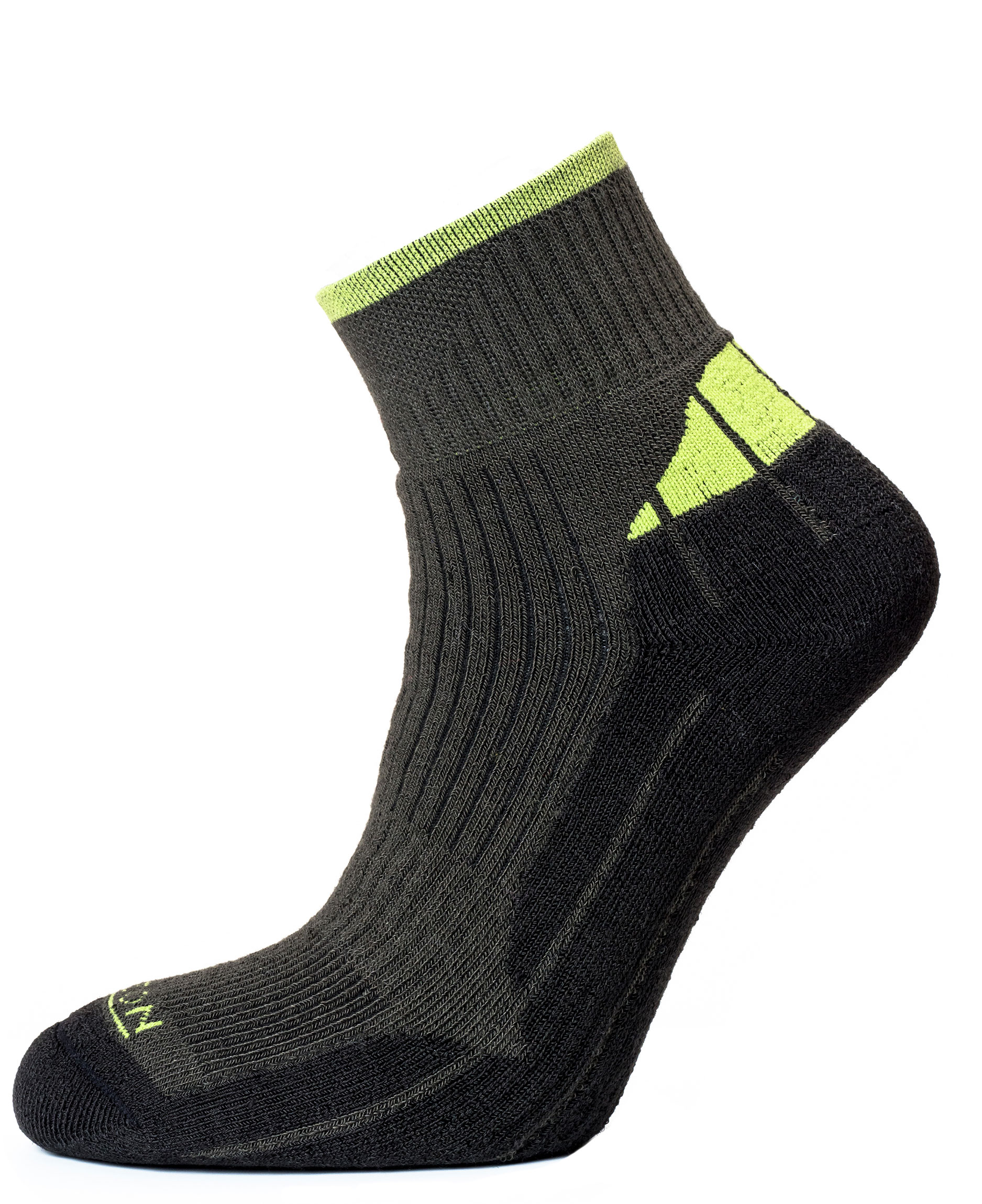 Coolmax Quarter Charcoal Marl/Lime
