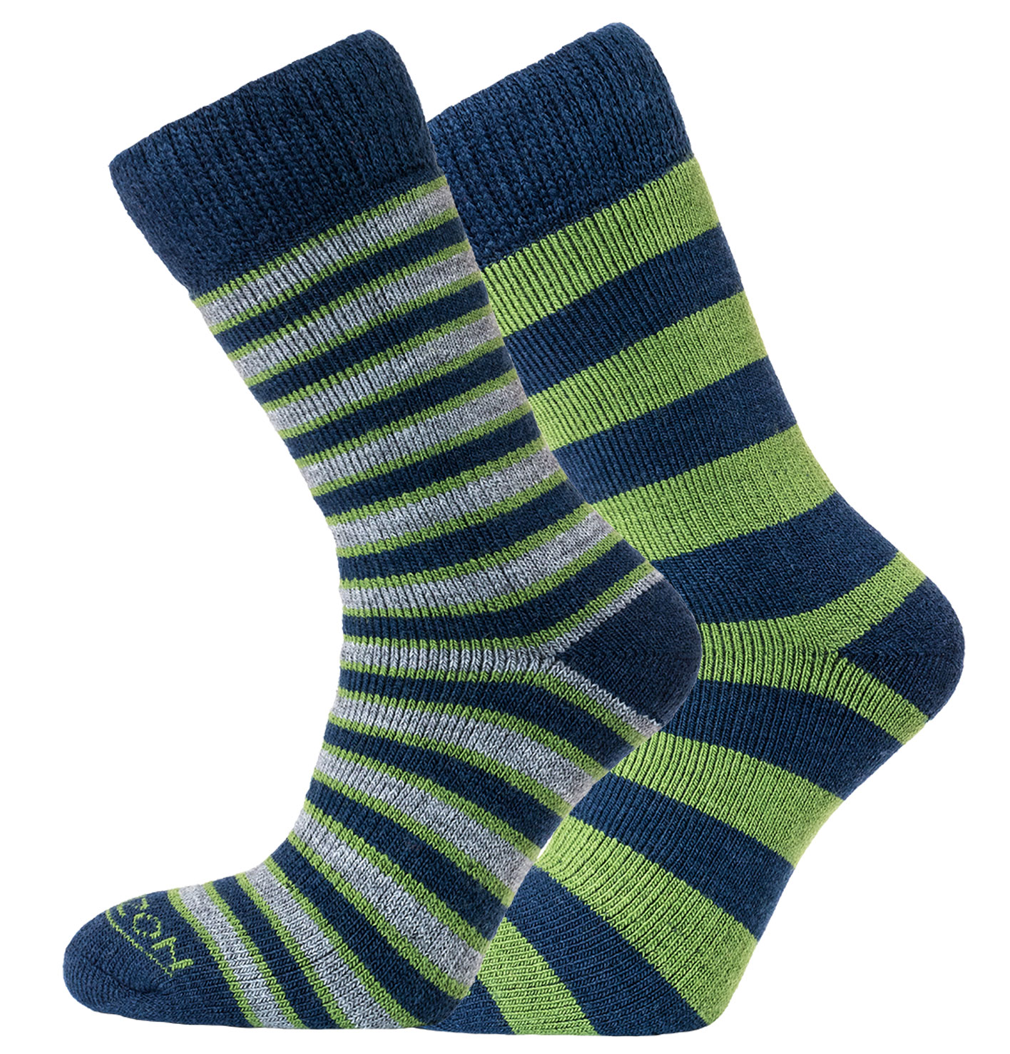 Merino Outdoor 2pk – Stripes & Hoops Green/Navy