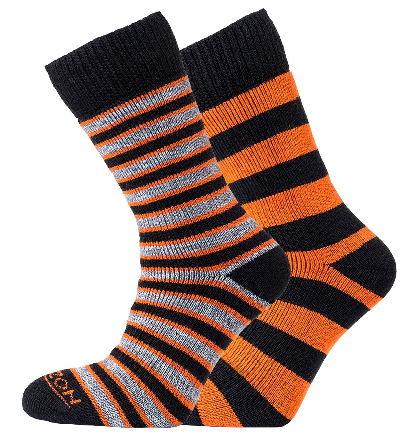 Merino Outdoor 2pk – Stripes & Hoops Orange/Black