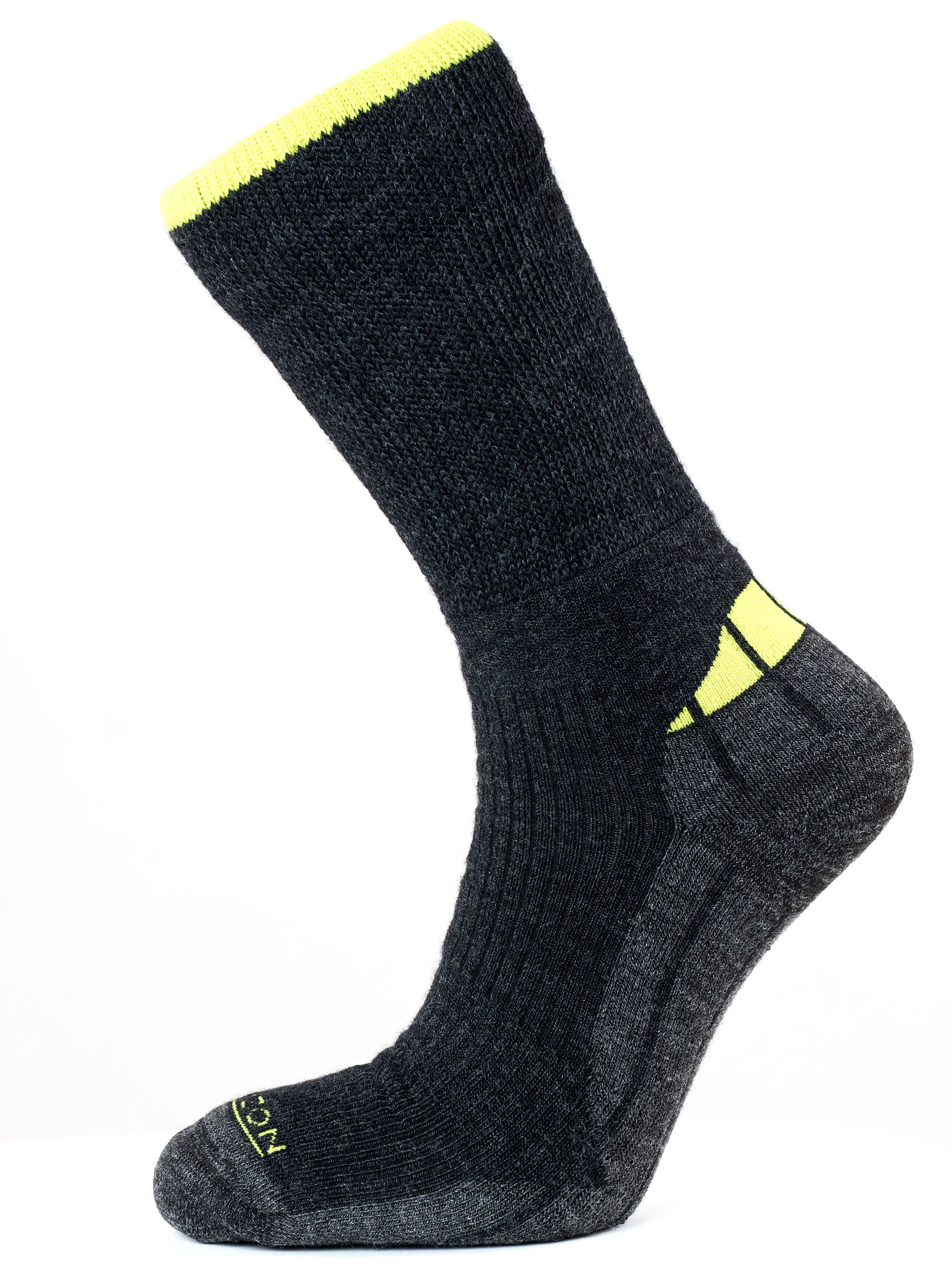 Merino Hiker Charcoal/Lime