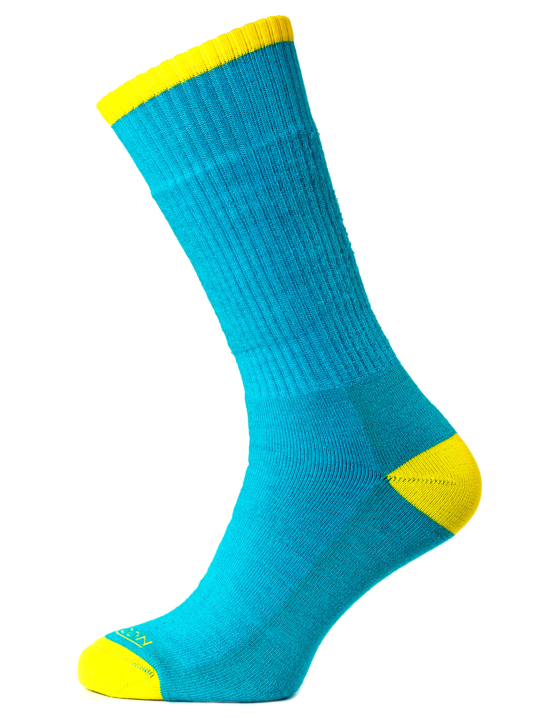 Merino Trek Bright Teal Marl/Yellow