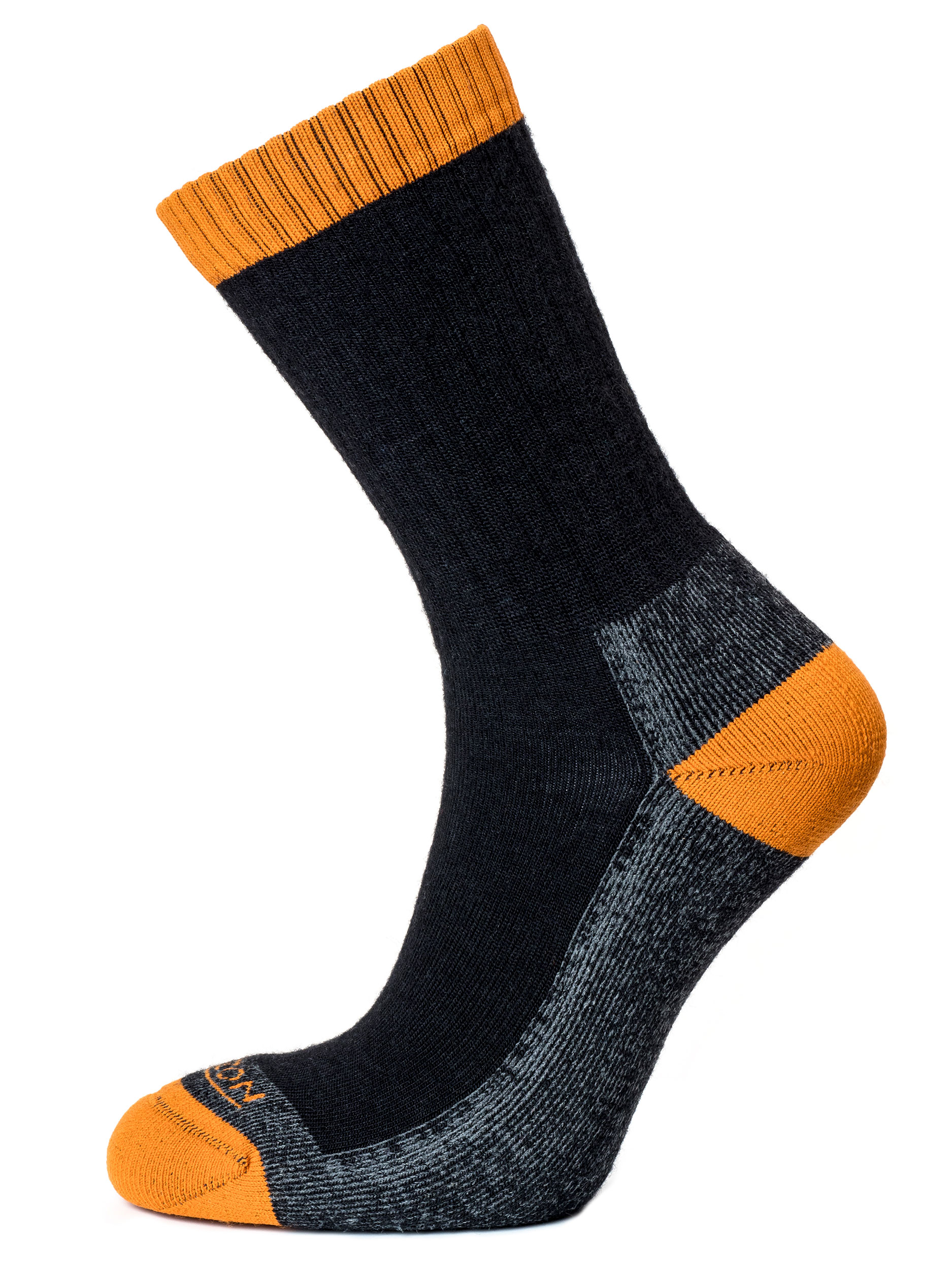 Micro Crew Men's Anthracite / Burnt Orange