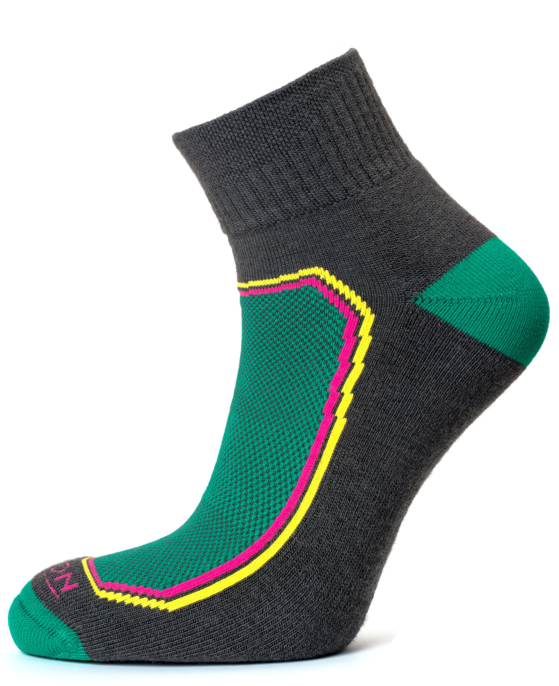 Premium Merino Quarter Sock Grey Lime