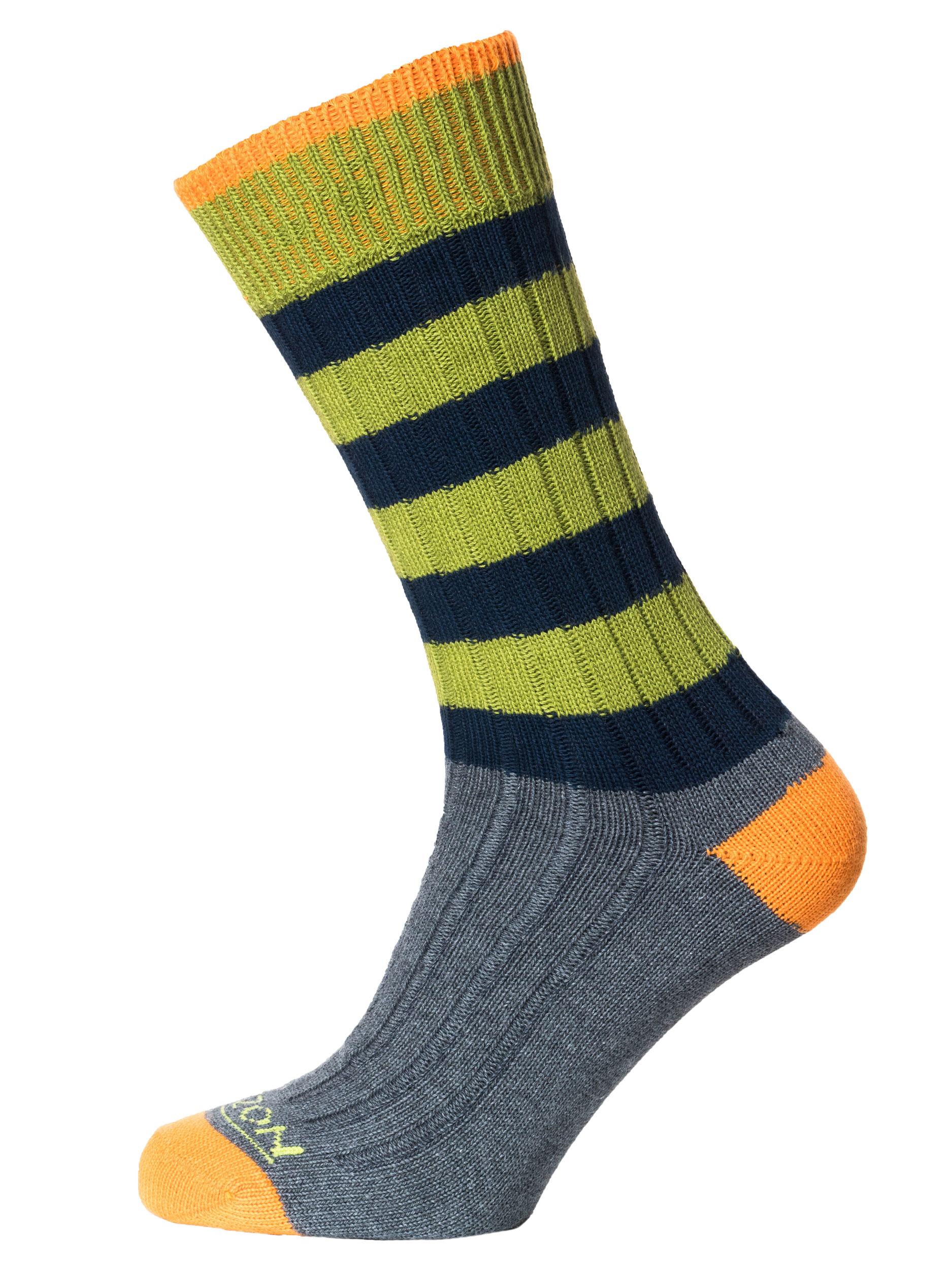 Leisure Mens Cotton Sock Navy Green