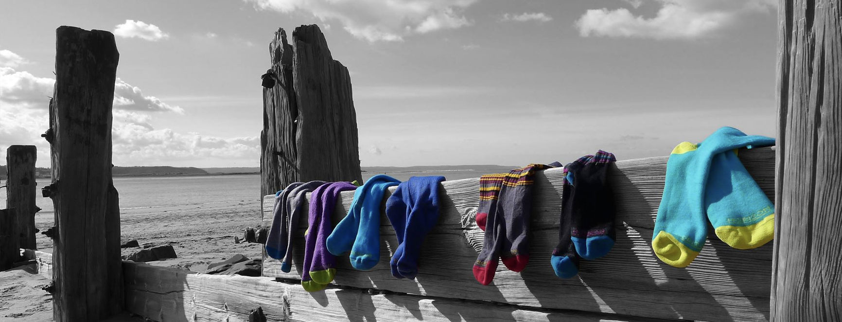Horizon Socks on Beach