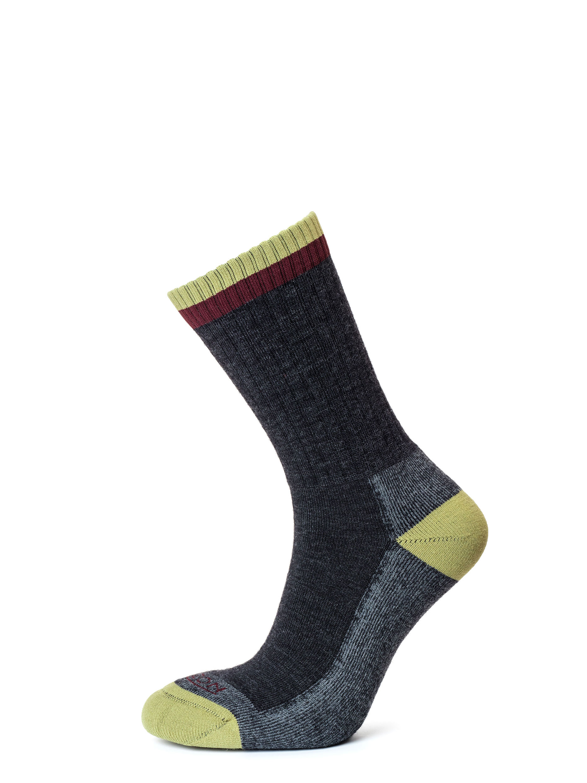 Tactical Merino Micro Crew Sock Anthracite Burgundy