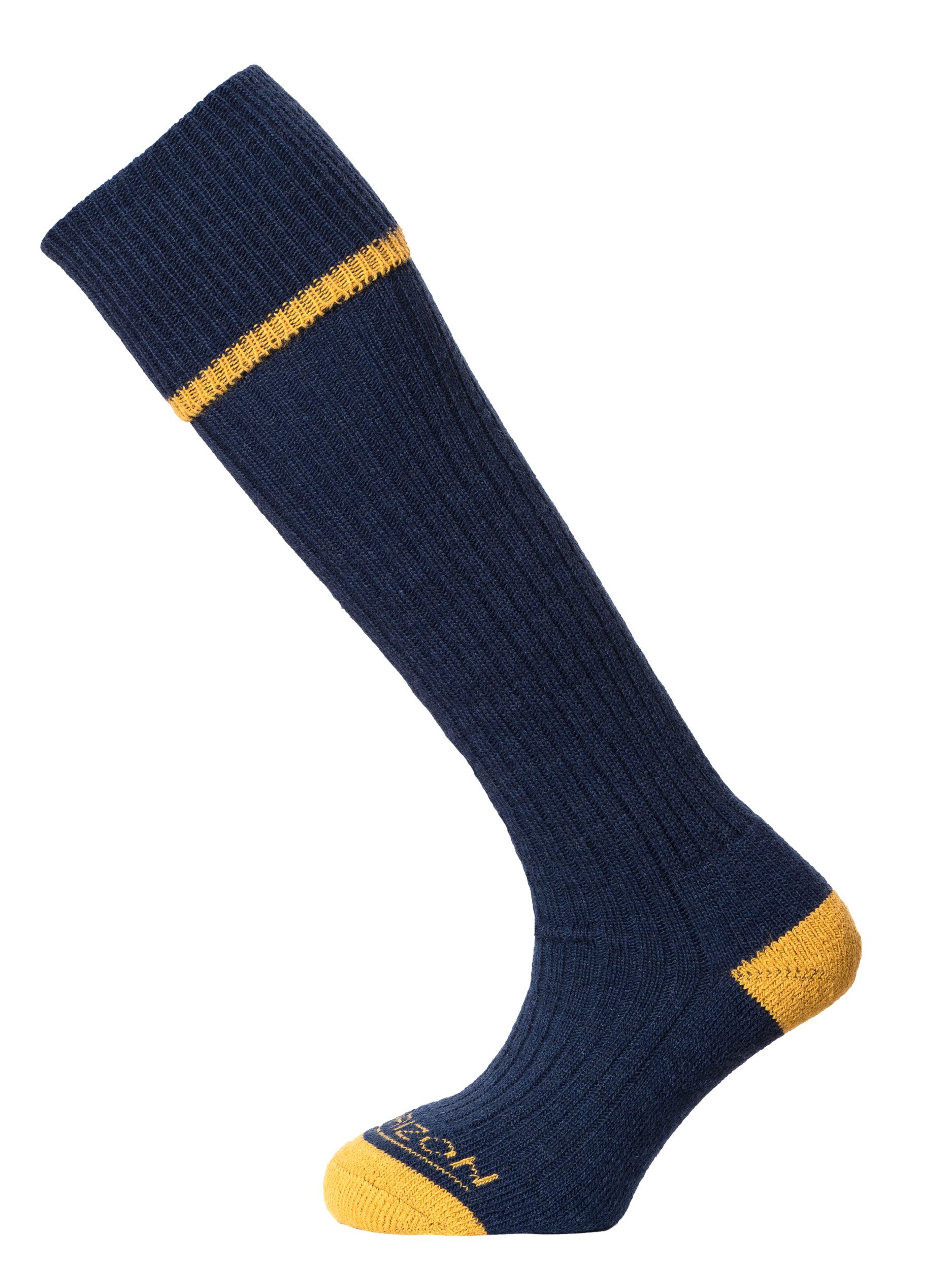 Horizon Field Sport Turn-over-Top Sock Navy Mustard