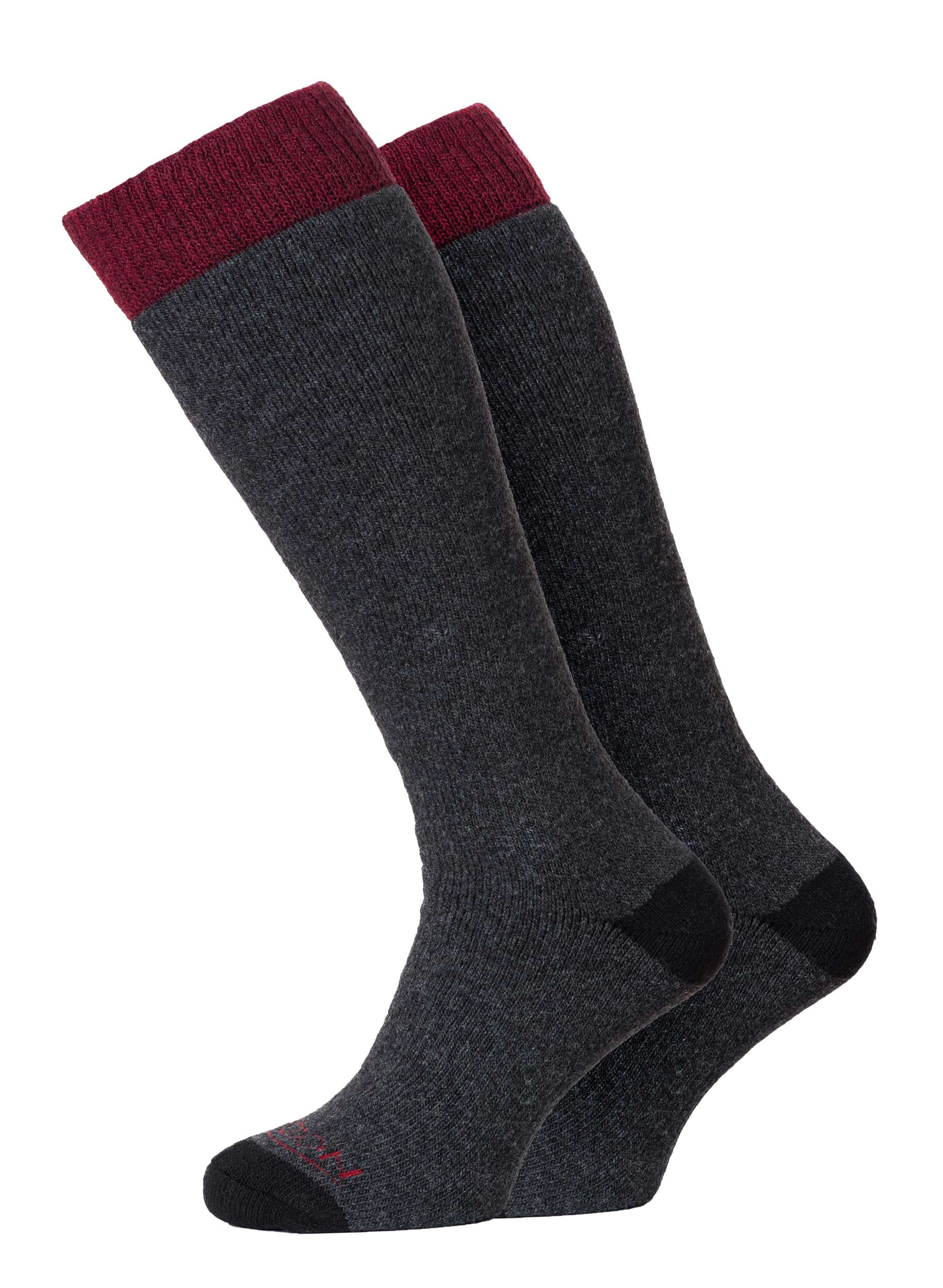 Winter Sport Merino 2pk Anthracite/Burgundy