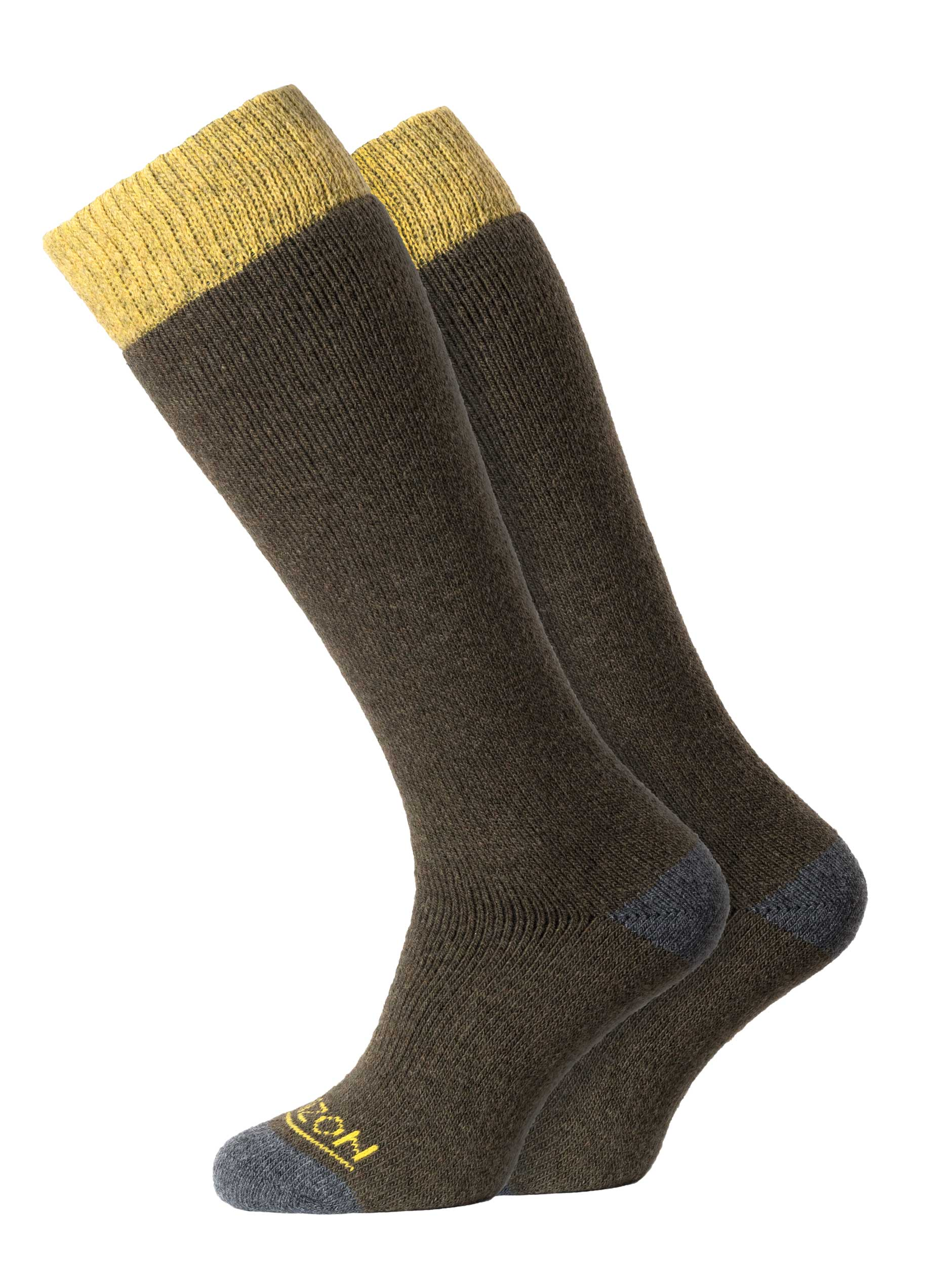 Winter Sport Merino 2pk Olive/Yellow