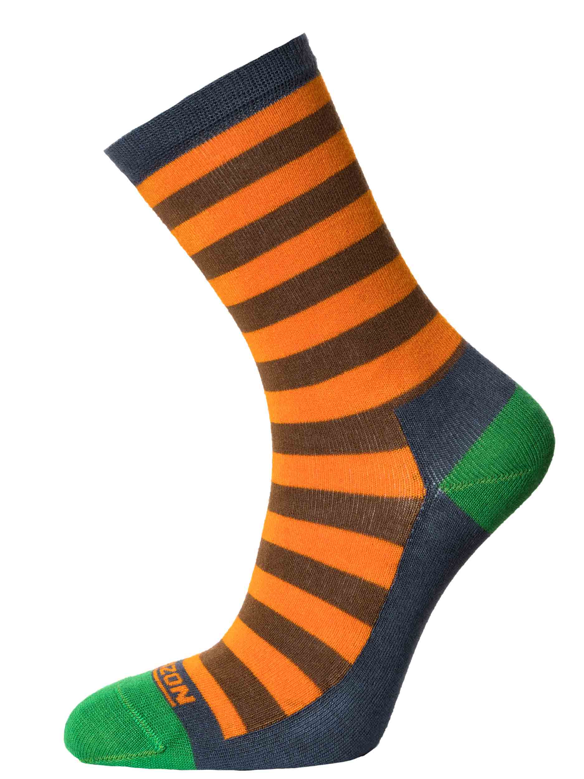 Leisure Lifestyle Womens Bamboo Sock Orange Green