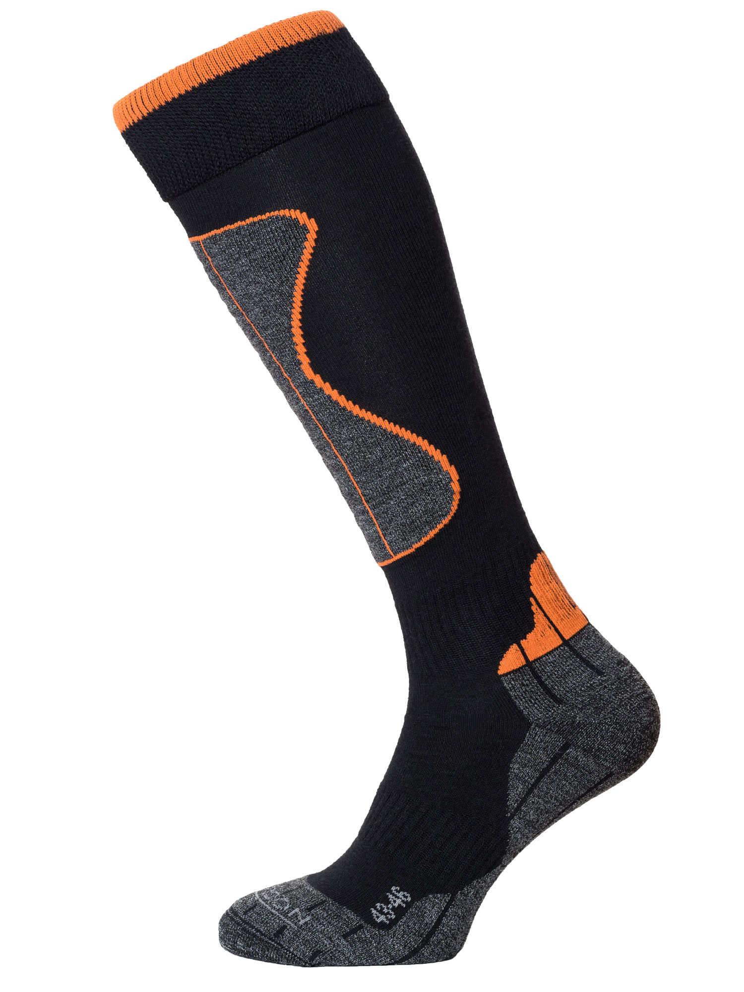 Winter Sport Technical Merino – Black / Orange