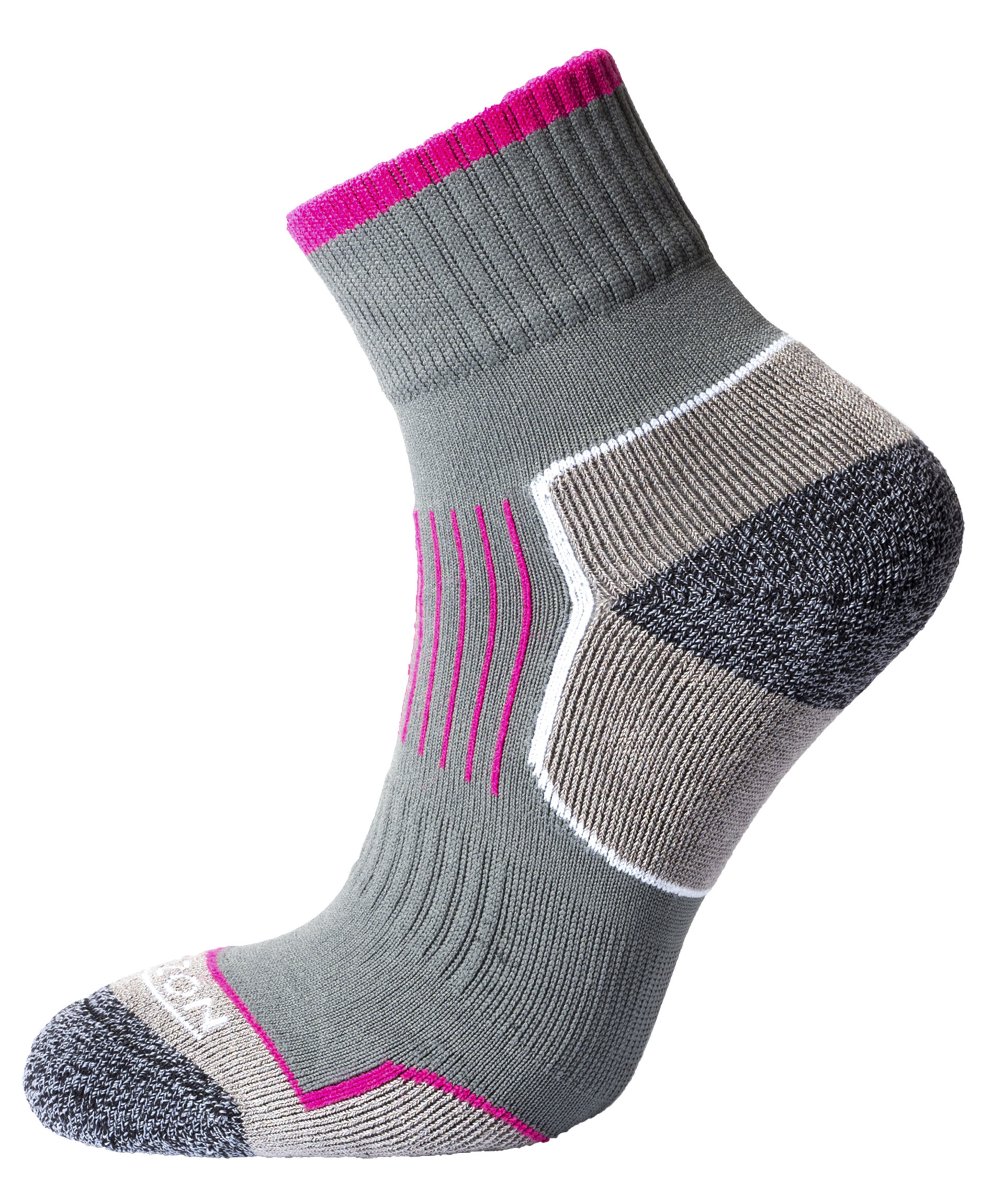 Performance Atomic 29 Sock Charcoal Cerise