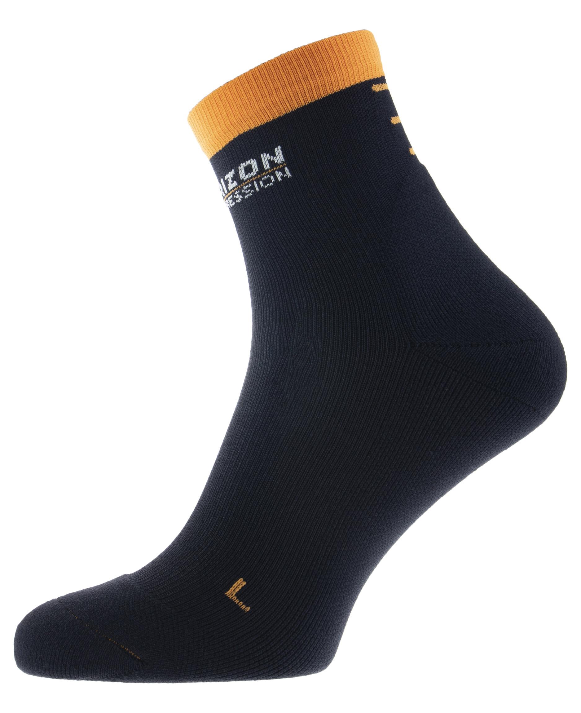 Performance Compression Quarter Sock Black Orange
