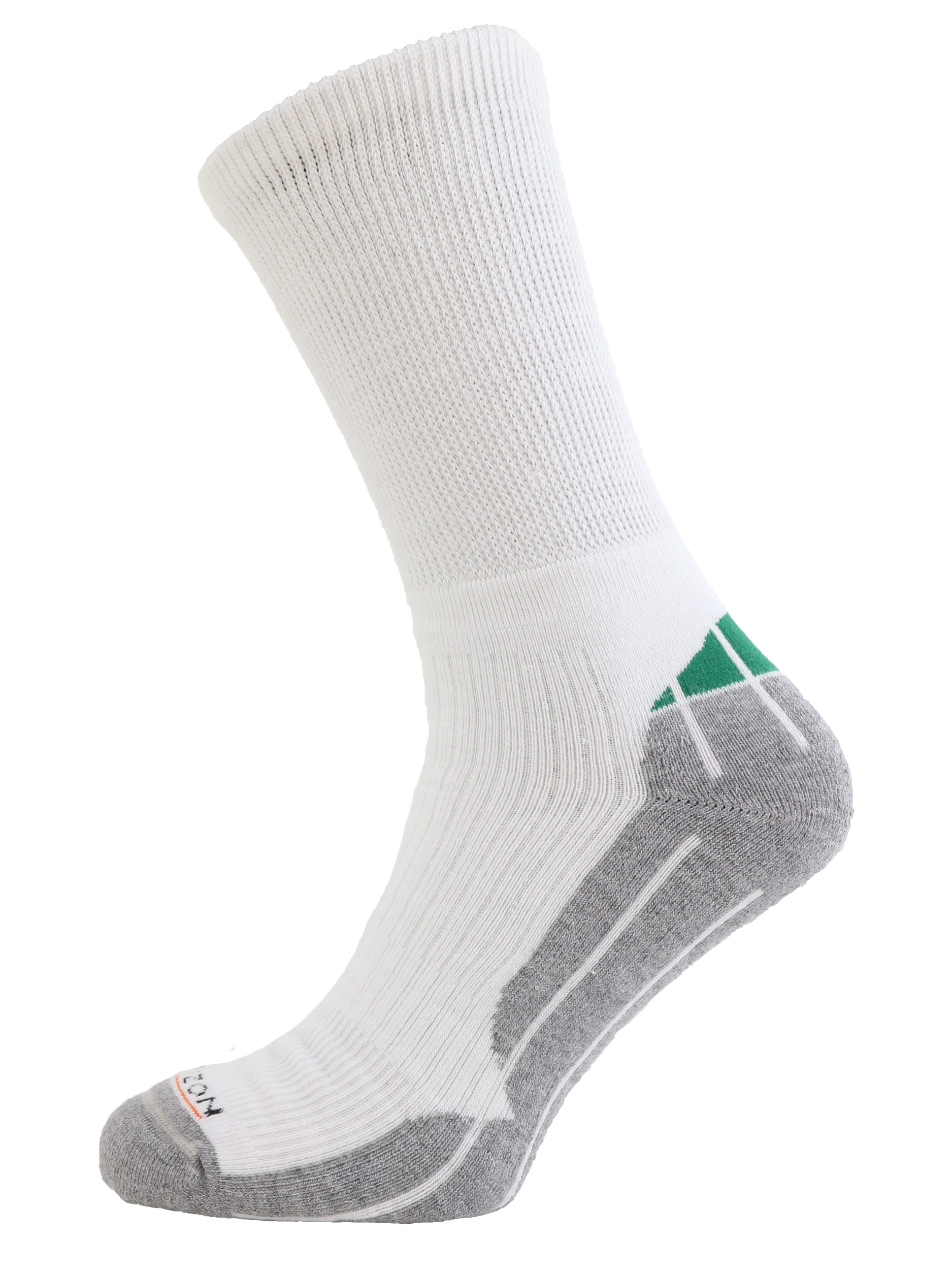 Performance Golf Coolmax Crew Sock White Green