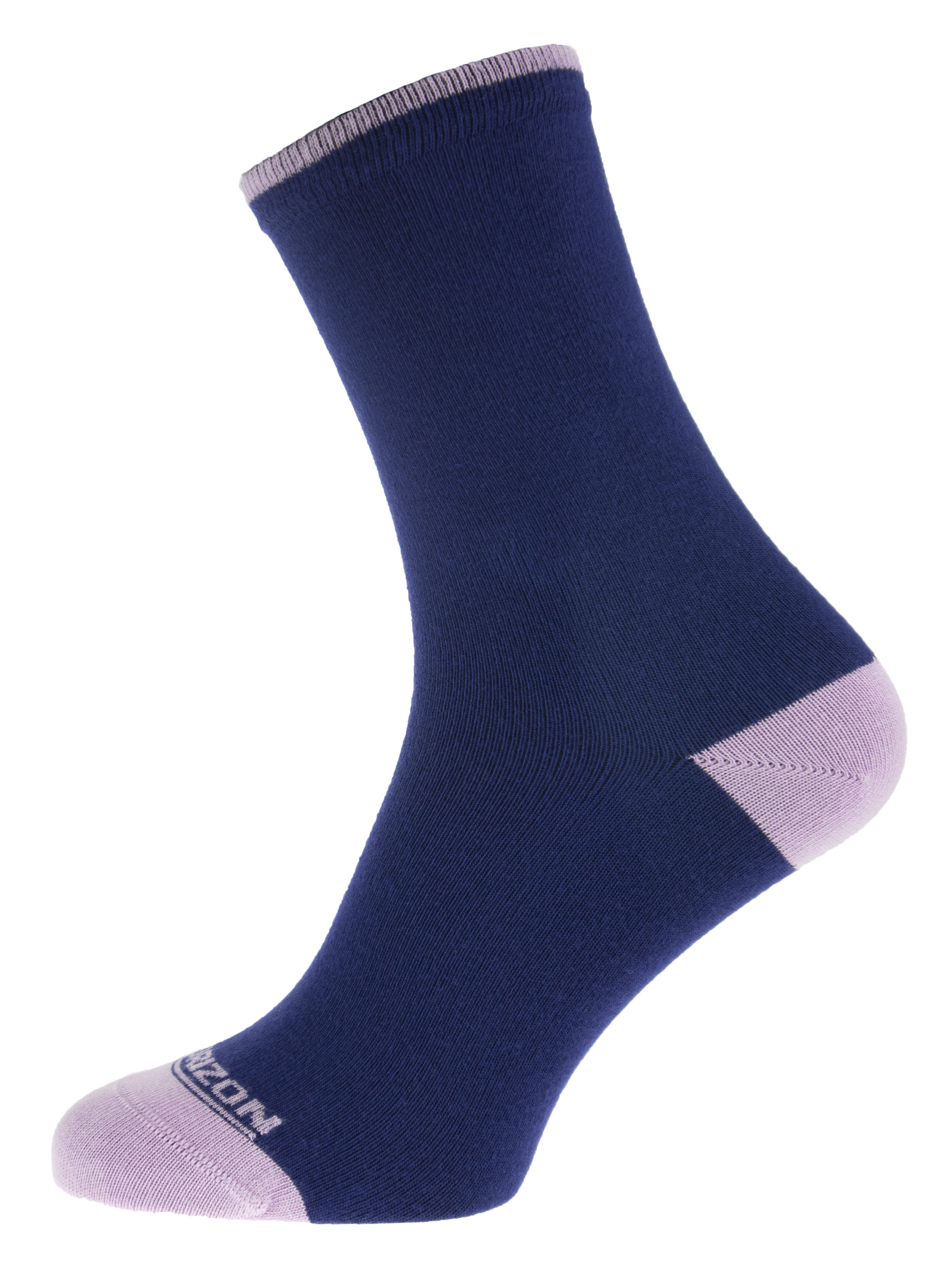 Leisure Bamboo Womens Plain Socks Navy Pink