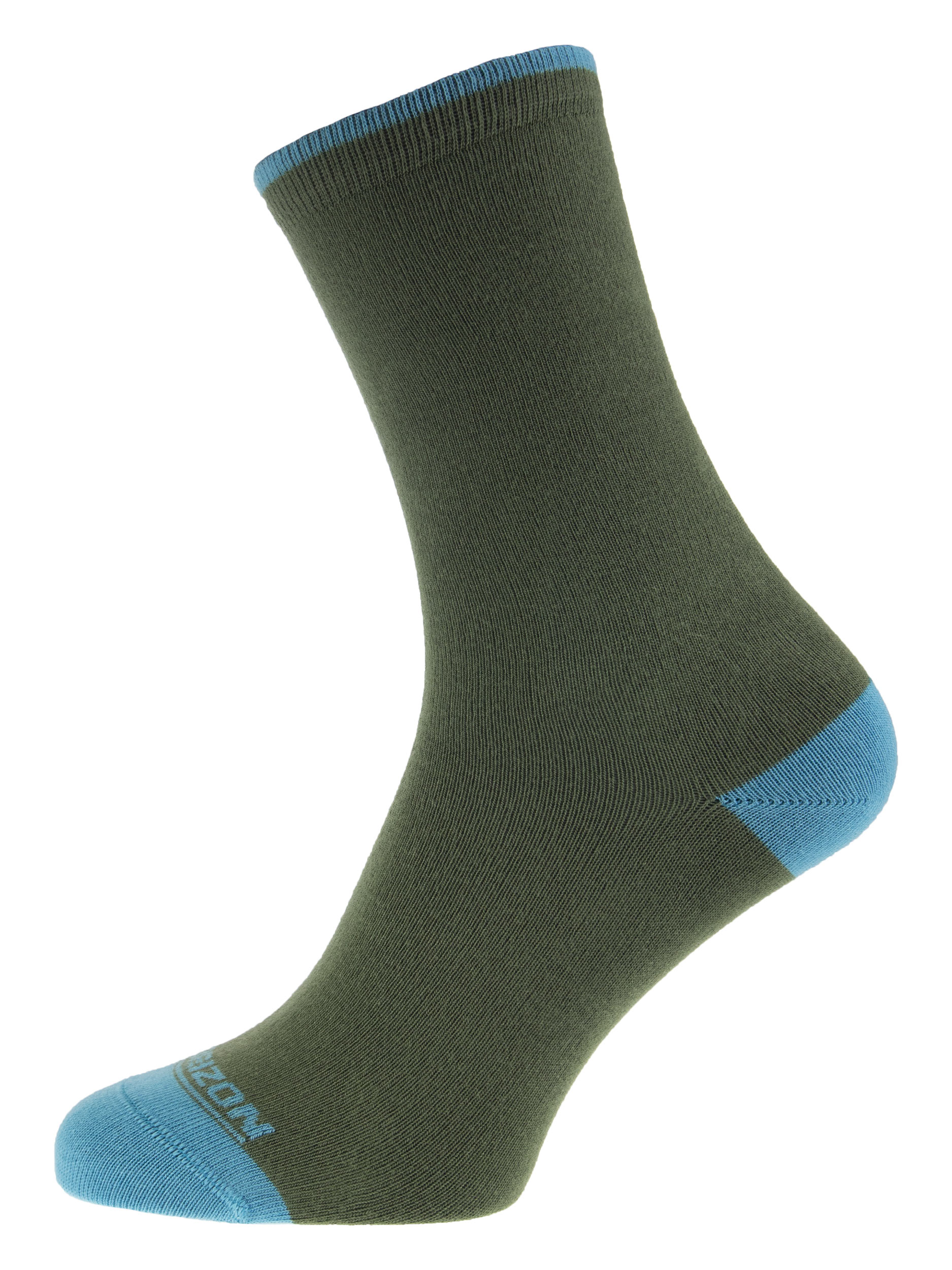 Leisure Bamboo Womens Plain Socks Olive Sky