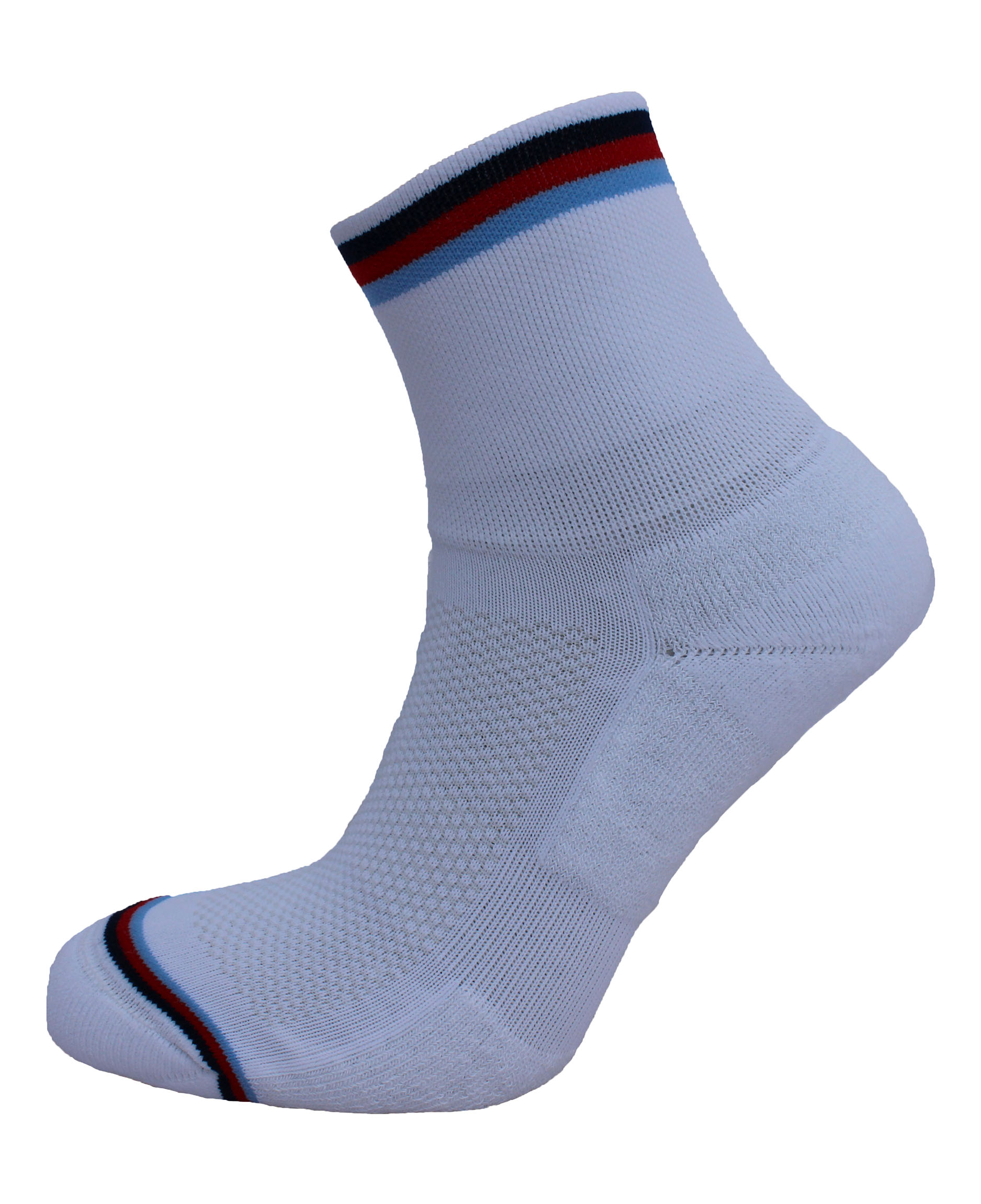 Coolmax Cycling Sock White Stripe