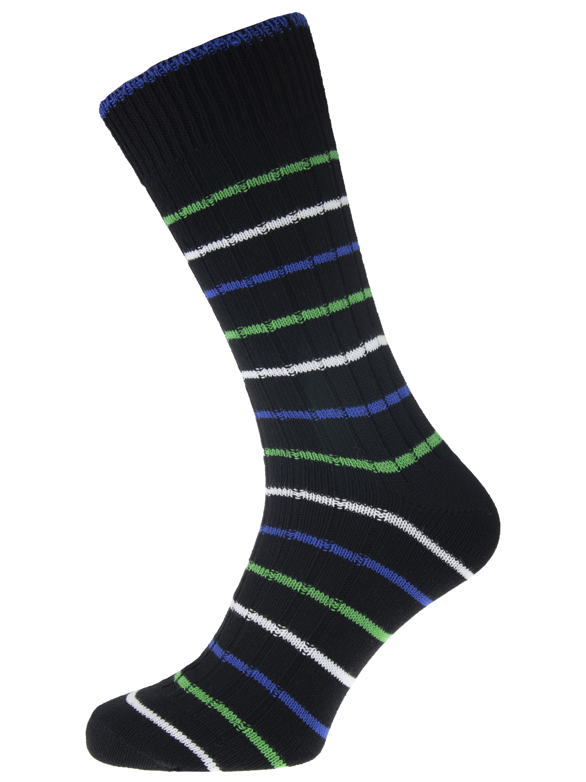 Lifestyle Men's Cotton Black W/ Royal / Green / White