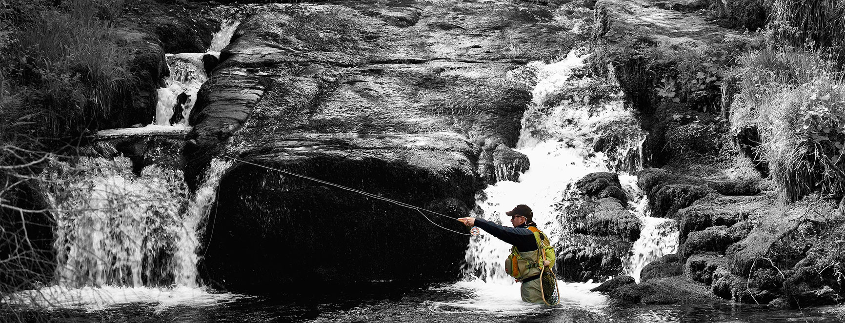 Lewis Hendrie - Brand Ambassador - Fishing - Waterfall