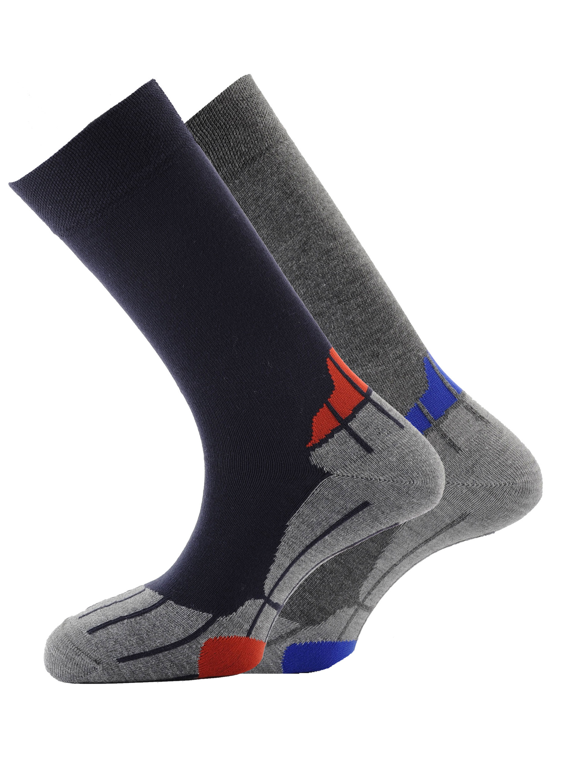 Performance Coolmax Lining 2pk Socks Navy