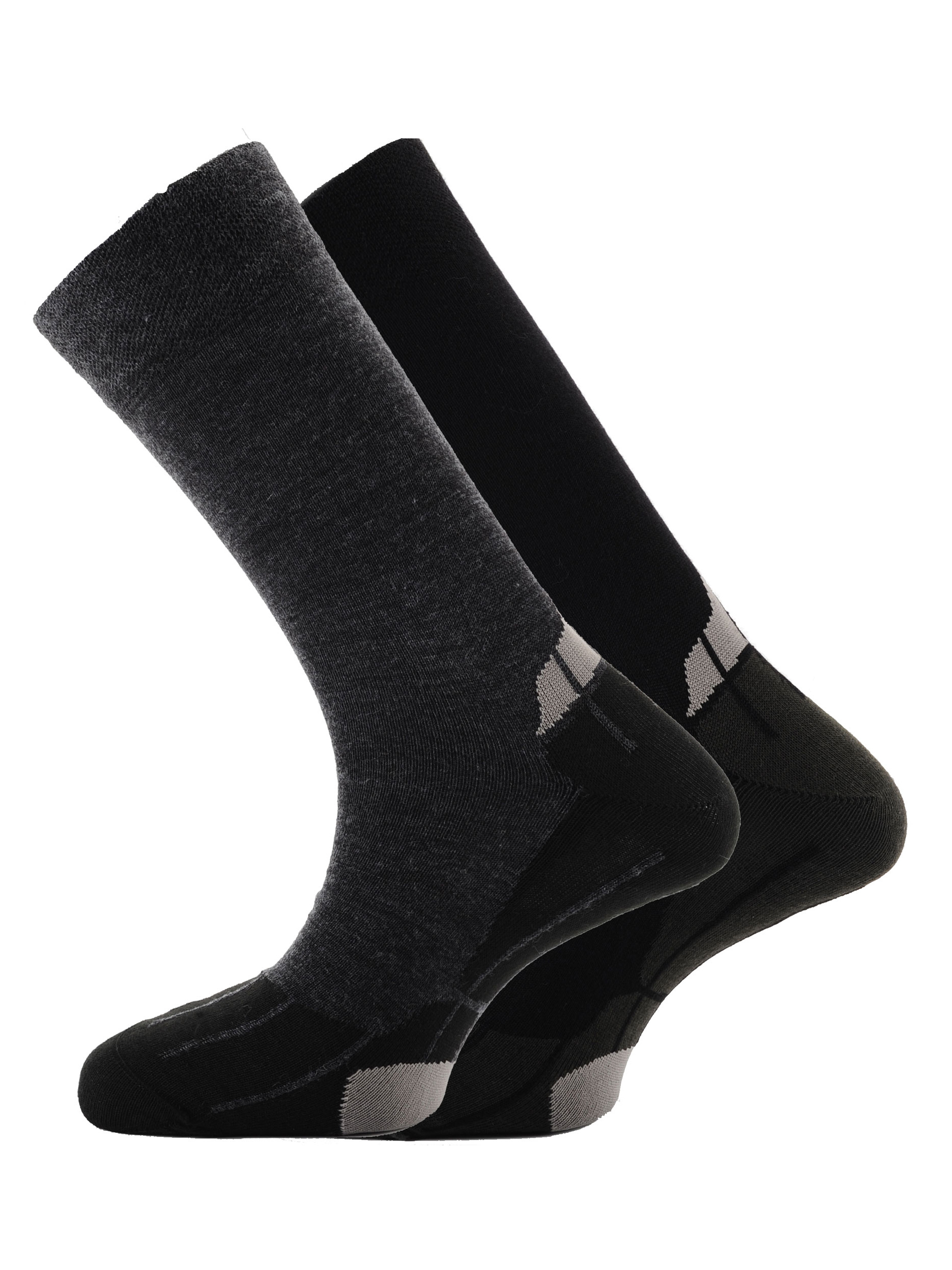 Performance Merino Lining 2pk Socks Black Charcoal