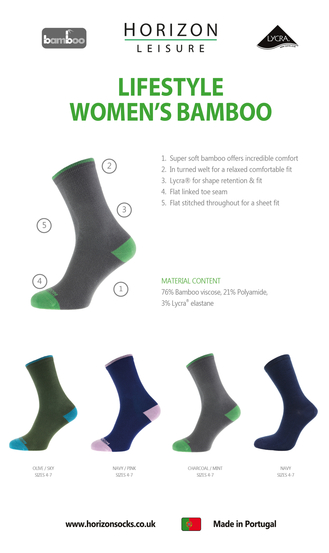 Leisure Lifestyle Bamboo Women's Plain Guide